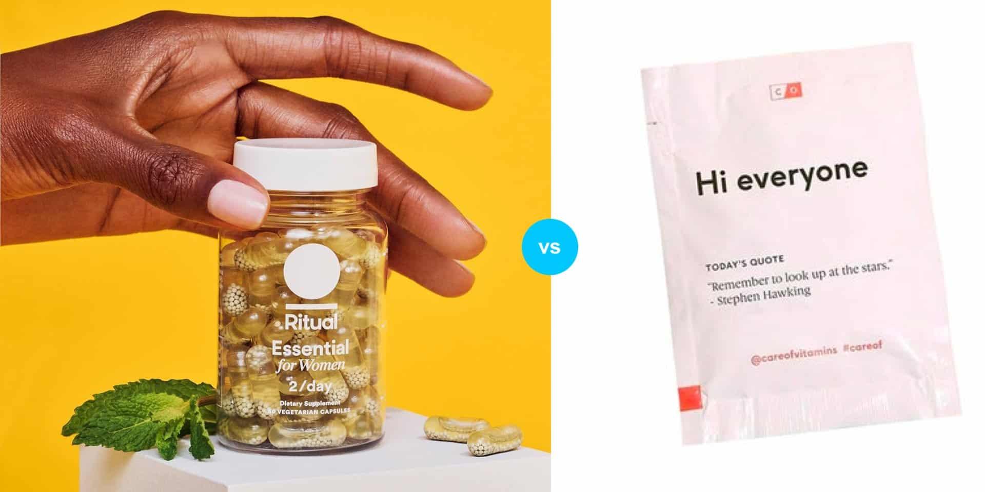 Ritual vs Care/Of vs Honest Co. Womens Vitamins