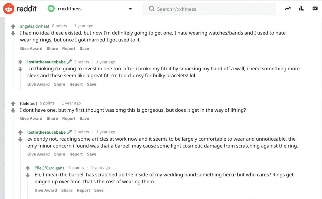 smart fitness ring review on reddit