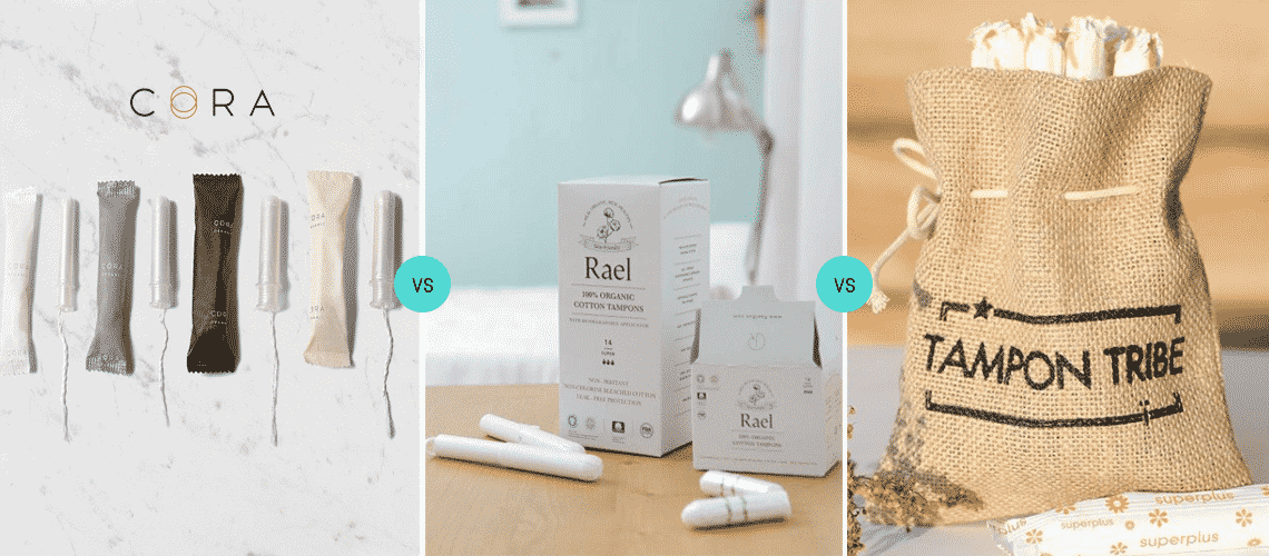 Cora vs Rael vs Tampon Tribe: What's the Best Organic Tampon Kit?