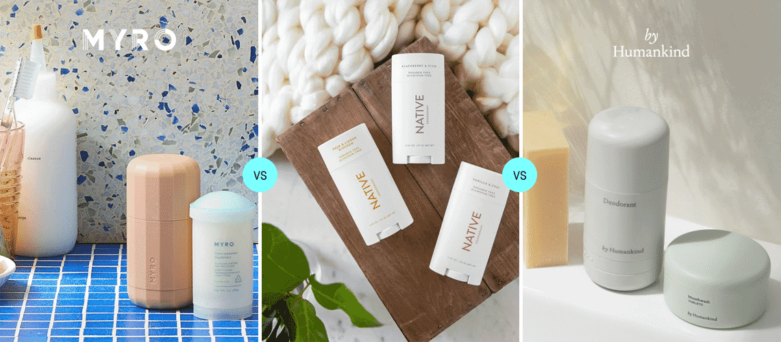 Myro vs Native vs by Humankind: The best refillable deodorant subscriptions