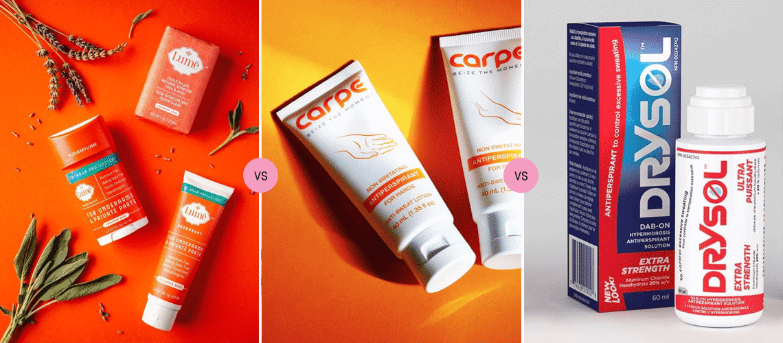 Lume vs Carpe vs Drysol: Which is the Best Clammy Hand Antiperspirant?