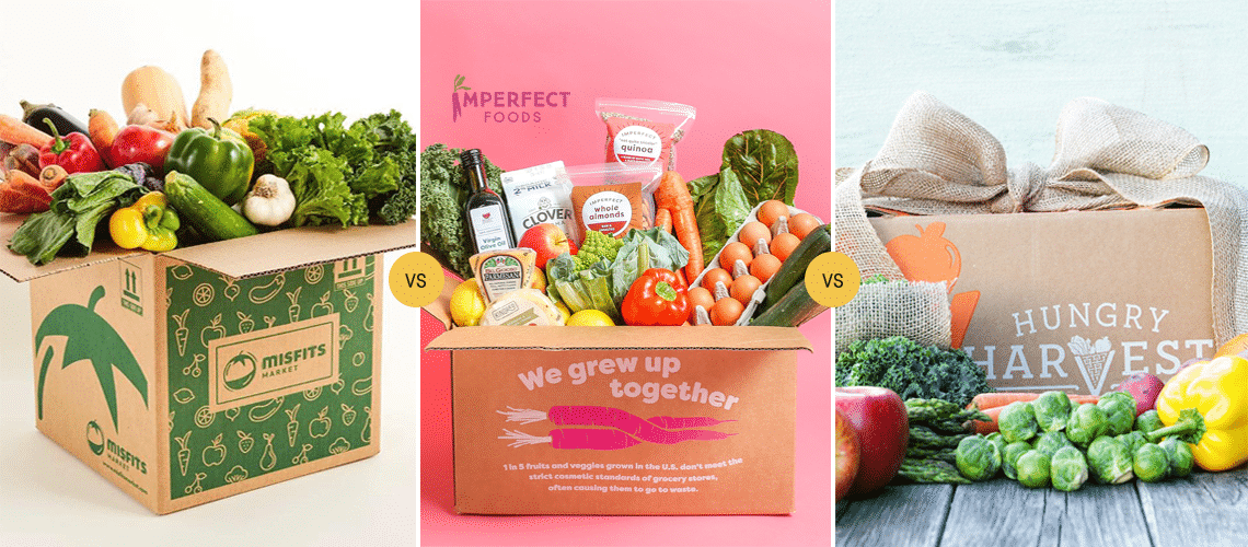 Misfits Market vs Imperfect Produce vs Hungry Harvest